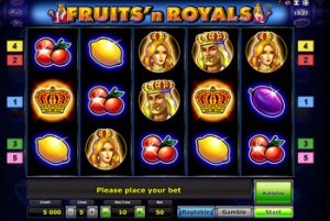 Fruits And Royals на зеркале Вулкан клуба